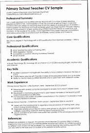 Sample Of Teaching Resume MABN Primary Teacher Examples Walteraggarwaltravels