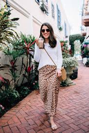 Sequins And Stripes Blogger Sweater Skirt Shoes Sunglasses Bag Leopard Print Round Sandals