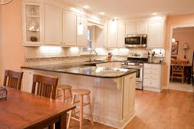 Half Wall Kitchen Cabinets Remodeling Installing Island Open Concept Home With Rolling Cabinet Standard Bench Width