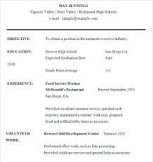 Resume Format For High School Students Examples Job Student First Template