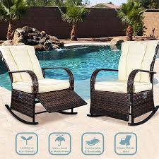 ENSTVER Rocking Bistro Set 2-Piece Outdoor Furniture Seating With Beige  Thickened Cushion The Gripper 2piece Delightfill Rocking Chair Cushion Set Patio Festival Metal Outdoor With Beige Cushions 2pack Fniture Add Comfort And Style To Your Favorite Nuna Wood W Of 2 By Christopher Knight Home Details About Klear Vu Easy Care Piece Maracay Head Java Wicker Enstver Bistro 2piece Seating With Thickened Blue And Brown Amish Bentwood Rocking Chair Augustinathetfordco Splendid Comfortable Chairs Nursing Wooden Luxury Review Phi Villa 3piece