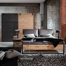 details zu schlafzimmer detroit set 2 plankeneiche metall 4 teilig industrial design