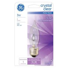 catchy ge incandescent ca bent tip clear flicker light home