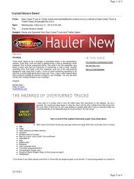 100 East Coast Truck Bee Newsletter Driver