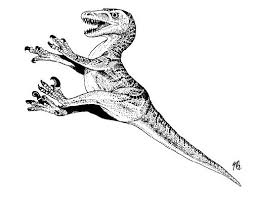 Dinosaur Coloring Pages Velociraptor
