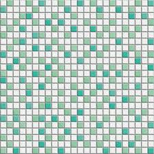 White Green Mixed Mosaic Tile Texture