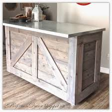 Metal Top Kitchen Island Beautiful Evejulien Ikea Hack Rustic Bar With Galvanized