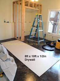 Installing Drywall On Ceiling In Basement by How To Build A Basement Closet Drywall Installation