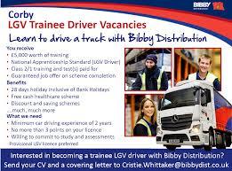 100 Dedicated Truck Driving Jobs Apprentice Bibby Distribution Careers