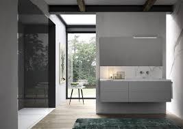 badezimmer schrank mit waschbecken aus marmor effekt
