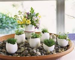 Easy Home Decorating Ideas With Diy Spring Easter Decor Egg Shell Vases Pebbles Flowers