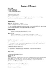 Statement Personal Cv Examples Uk Retail Support Worker Job Graduate