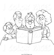 Royalty Free Family Stock Coloring Page Designs