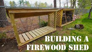 how to build a firewood shed mdm builds a firewood shed