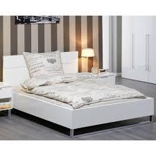 bett white 180x200 hochglanz lackiert weiß