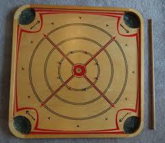 Antique Wooden Carrom Board 166 1940 S W Most Pieces Orig Box Rule Book
