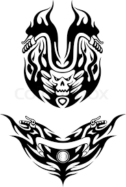 Two Tribal Bike Tattoos