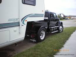 100 Semi Truck Rv 1998 Ford F800 Custom Pu Hauler Hooked To Fifth Wheel Ford