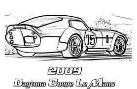 2009 Shelby Daytona Coupe Le Mans Classic Car Coloring Pages