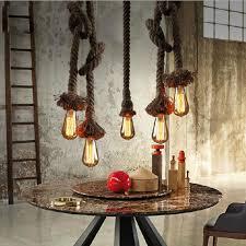 aliexpress buy diy handmade vintage pendant lights loft rope