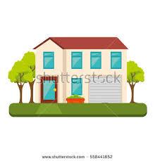 Exterior Cute House Icon