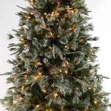 9ft Pre Lit Green Snow Effect Liberty Pine Artificial Christmas Tree With Cones 5