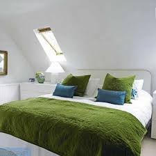 bedroom attic bedroom with modern house interior