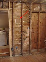 Old House Interior Wall With Plaster And Lath Removed Showing Location Of Future Electrical Sub