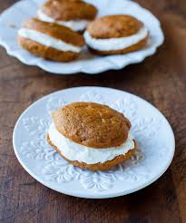 Pumpkin Whoopie Pies With Maple Spice Filling by Pumpkin Whoopie Pies Averie Cooks