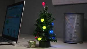 USB Mini LED Christmas Tree Tiny Tinsel Powered By