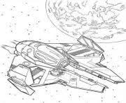 Obi Wan Kenobi Spaceship Star Wars Coloring Pages