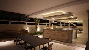 kitchen with modern drop ceiling combined wooden ceiling