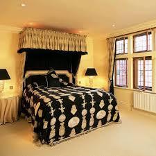 Black And Yellow Interior Design Color Scheme Contrasting Bedroom Decorating Ideas