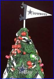 Danbury Mint DALLAS COWBOYS Light Up Resin Christmas Tree NFL