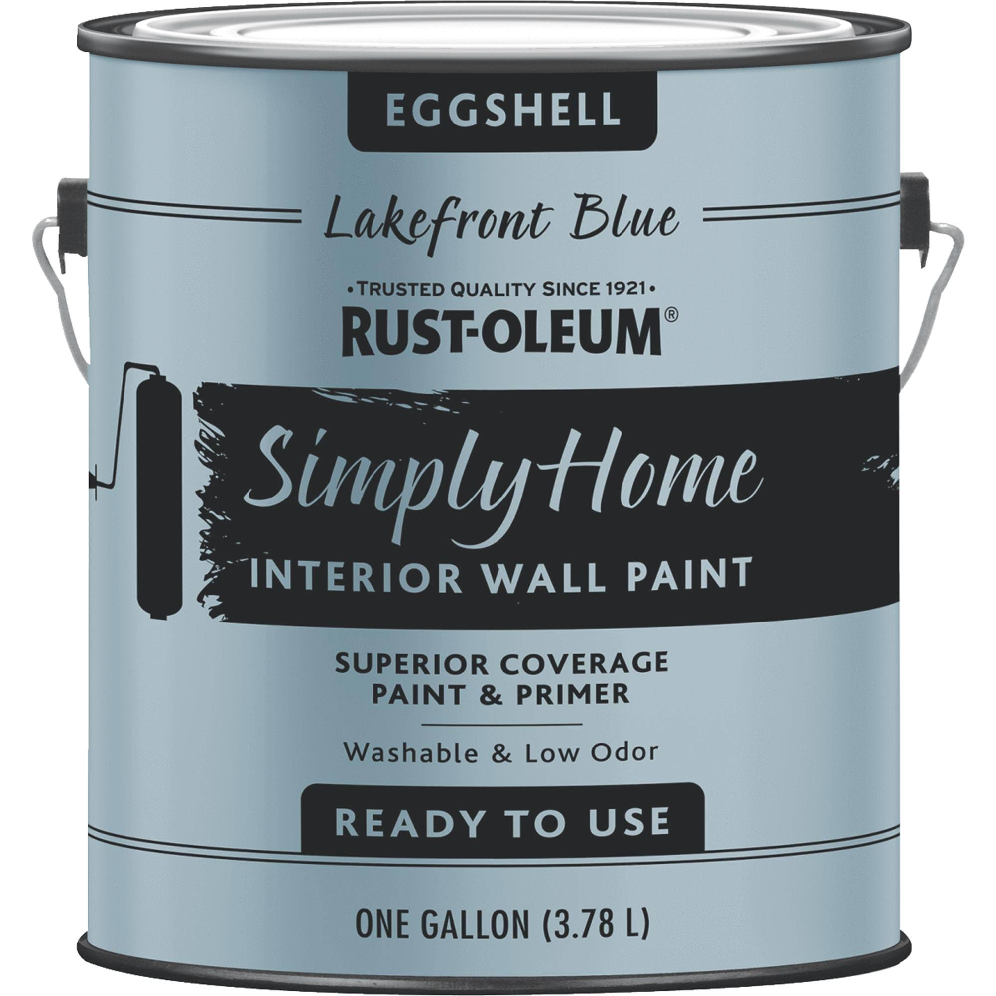 Rust-oleum 332144 Simply Home Lakefront Blue Interior Wall Paint - Eggshell, 1gal