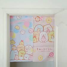 neue mode anime sumikko gurashi ecke bio tür vorhang dekoration home textil nette halbe vorhänge für schlafzimmer küche