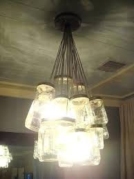 Mason Jar Light Fixture Chandelier Kitchen