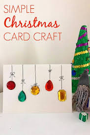 A Simple Christmas Card Craft For Kids And Adults