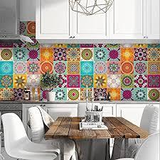 72 stück packung fliesenaufkleber 10x10 cm format hergestellt in italien ps00179 pvc aufkleber für bad und küchenfliesen aufkleber design