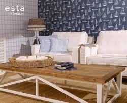 wohnzimmer tapete boote marineblau 136428