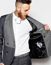 noose and monkey religion x double breasted suit jacket with tonal
