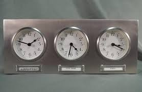 Pottery Barn 3 Time Zone World Clock