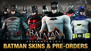 Batman The Long Halloween Pdf Free by Batman Arkham Knight All Batman Skins U0026 Pre Order Bonuses Youtube