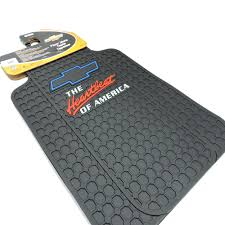 Chevy Truck Floor Mats 4pc Chevrolet Chevy Elite Logo Black Rubber ...