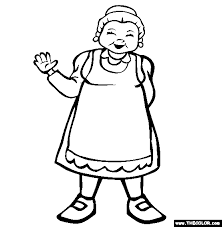 Mrs Claus Christmas Coloring Page