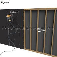 how to install mass loaded vinyl for soundproofing walls www