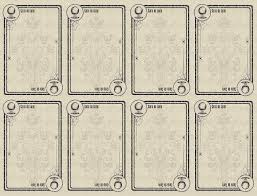 Blank Printable Game Board Cards