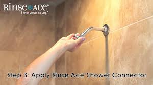 rinse ace shower connector youtube