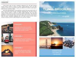 Golden Gate Bi Fold Travel Brochure Template