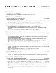 Law Student Resume Template Word